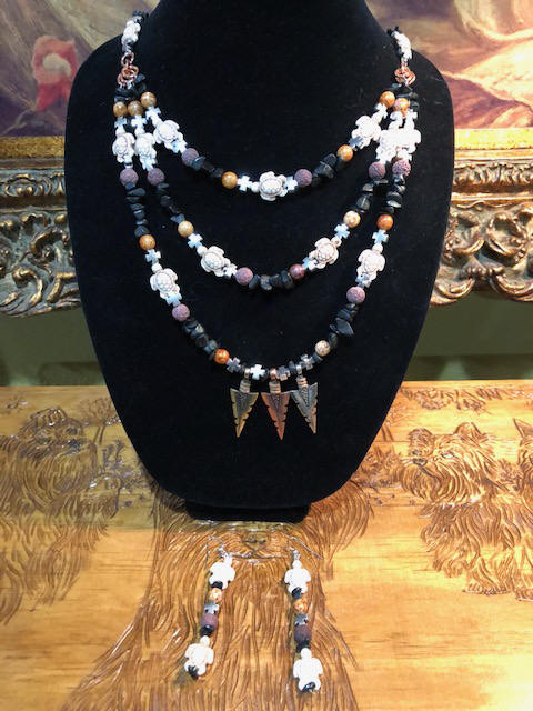"30"" Neckless and 3 1/2"" earings"